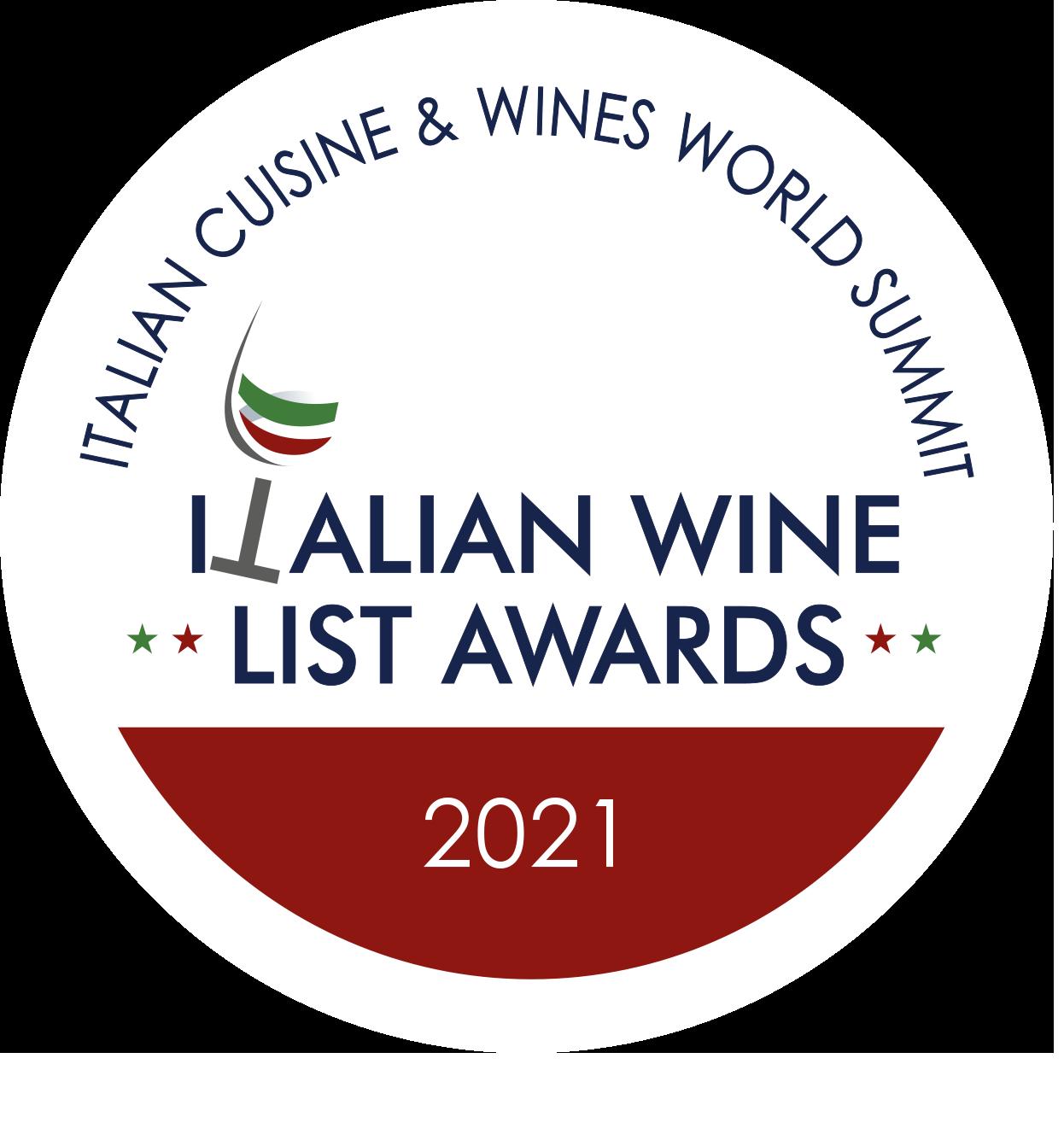 Italia Wine List Awords