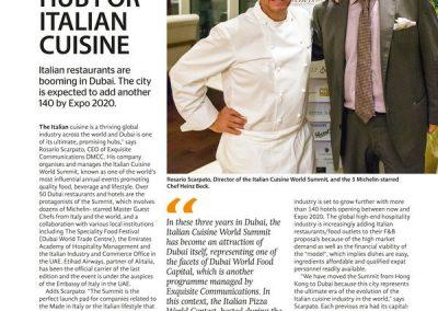 2015 Dubai - intervista sul Khaleej Times principale giornale di Dubai