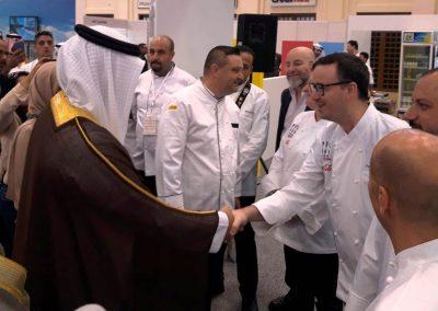 2018 Manama - Bahrain EXPO Con Chef Heinz Beck, Chef Paco Morales, Chef Vincenzo Candiano e la delegazione di rappresentanza dello Sceicco del Bahrain